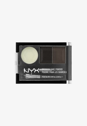 EYEBROW CAKE POWDER - Ögonbrynspuder - 1 black-gray