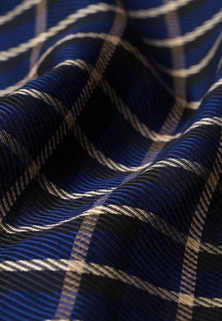IVY & OAK CHECK Maxikleid true blue check/dunkelblau