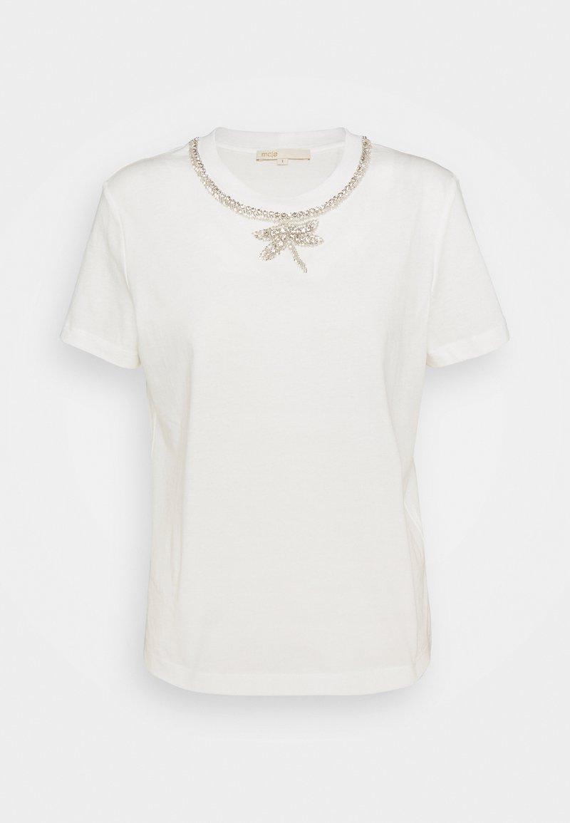 maje - TOPAL - T-shirt z nadrukiem - blanc