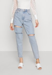 Topshop - SOFIA RIP MOM - Relaxed fit jeans - super bleach - 0
