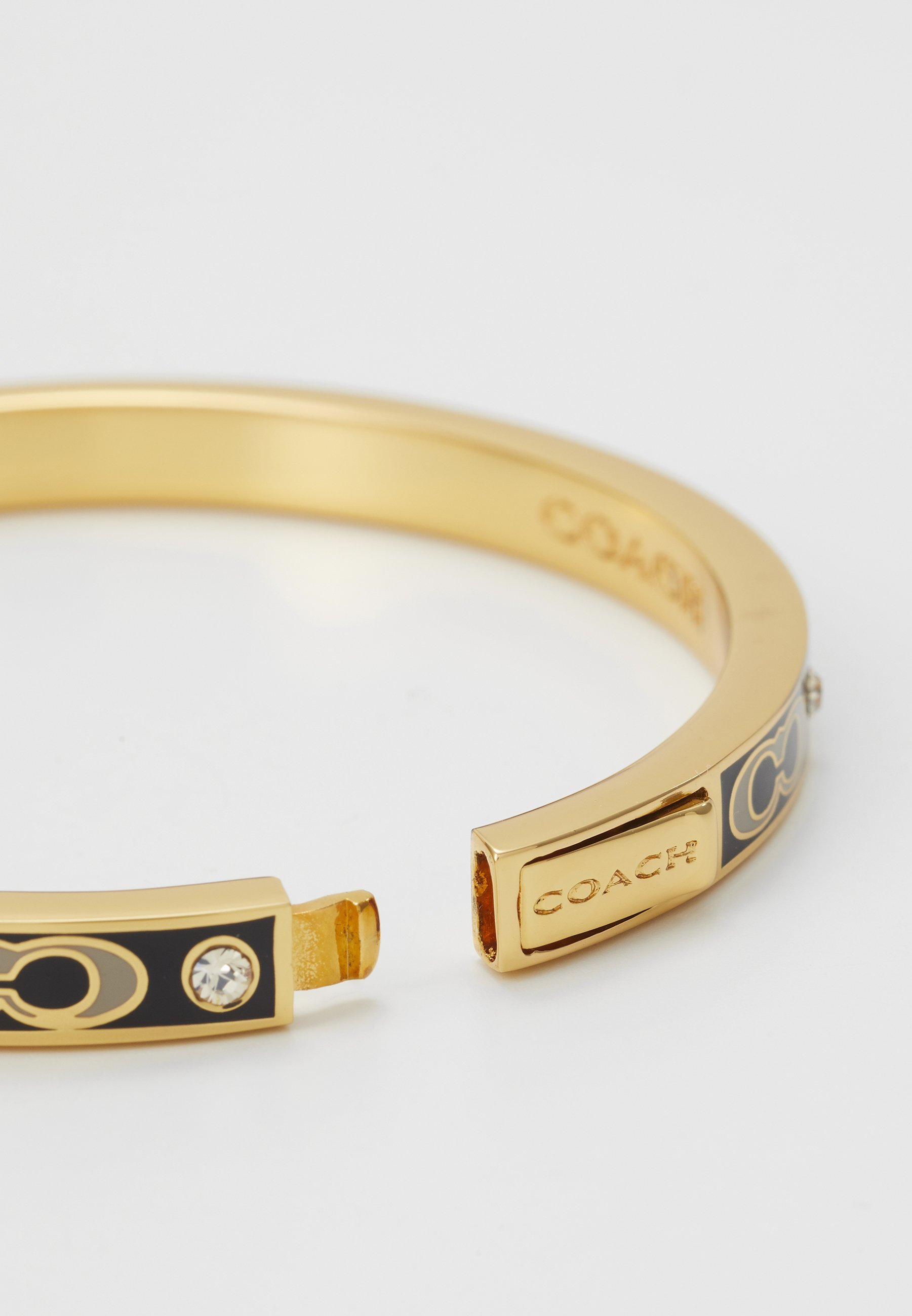 Coach HORSE AND CARRIAGE HINGED BANGLE Armband gold