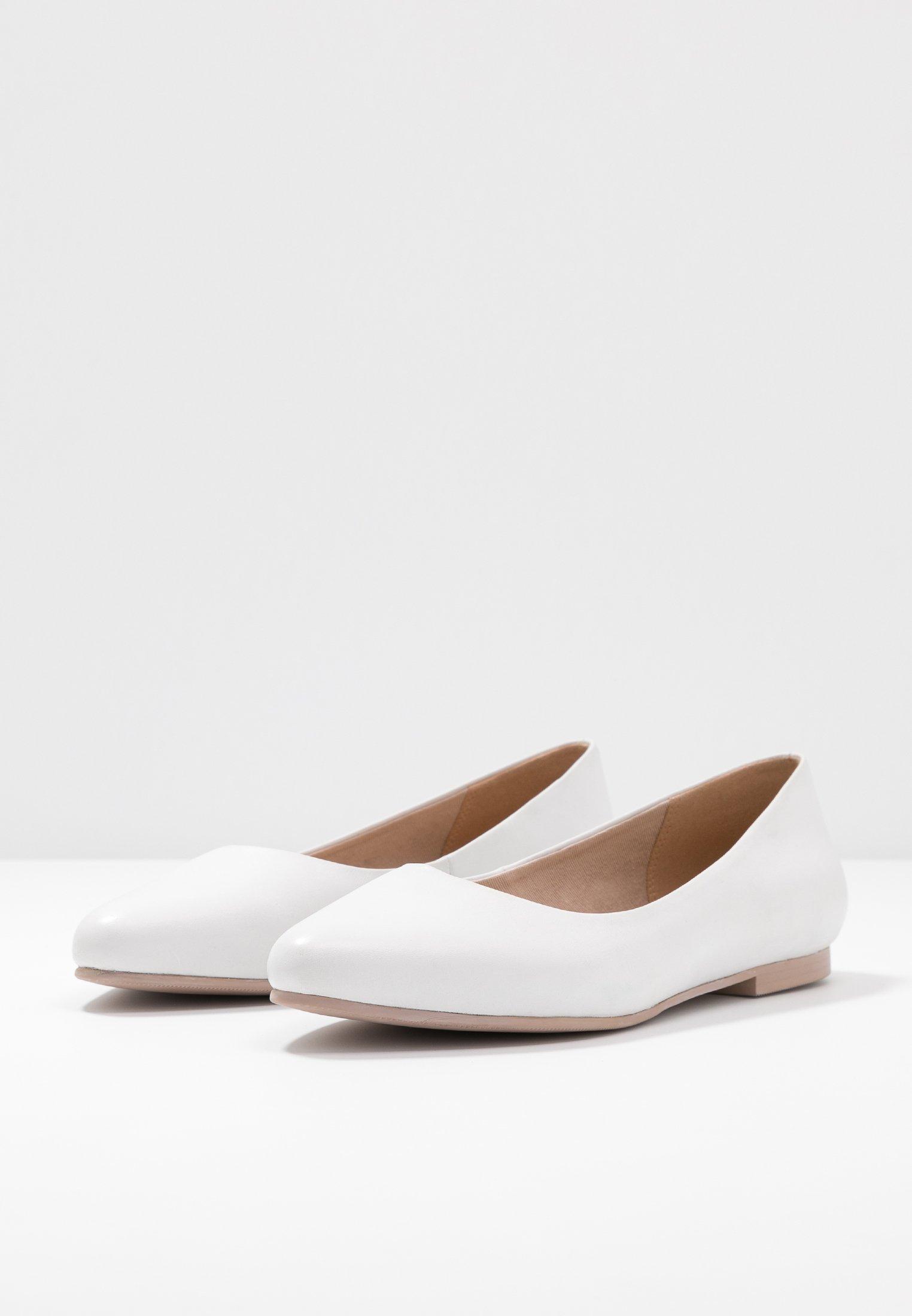 Anna Field Leather Ballerinas - Klassischer Ballerina White/weiß
