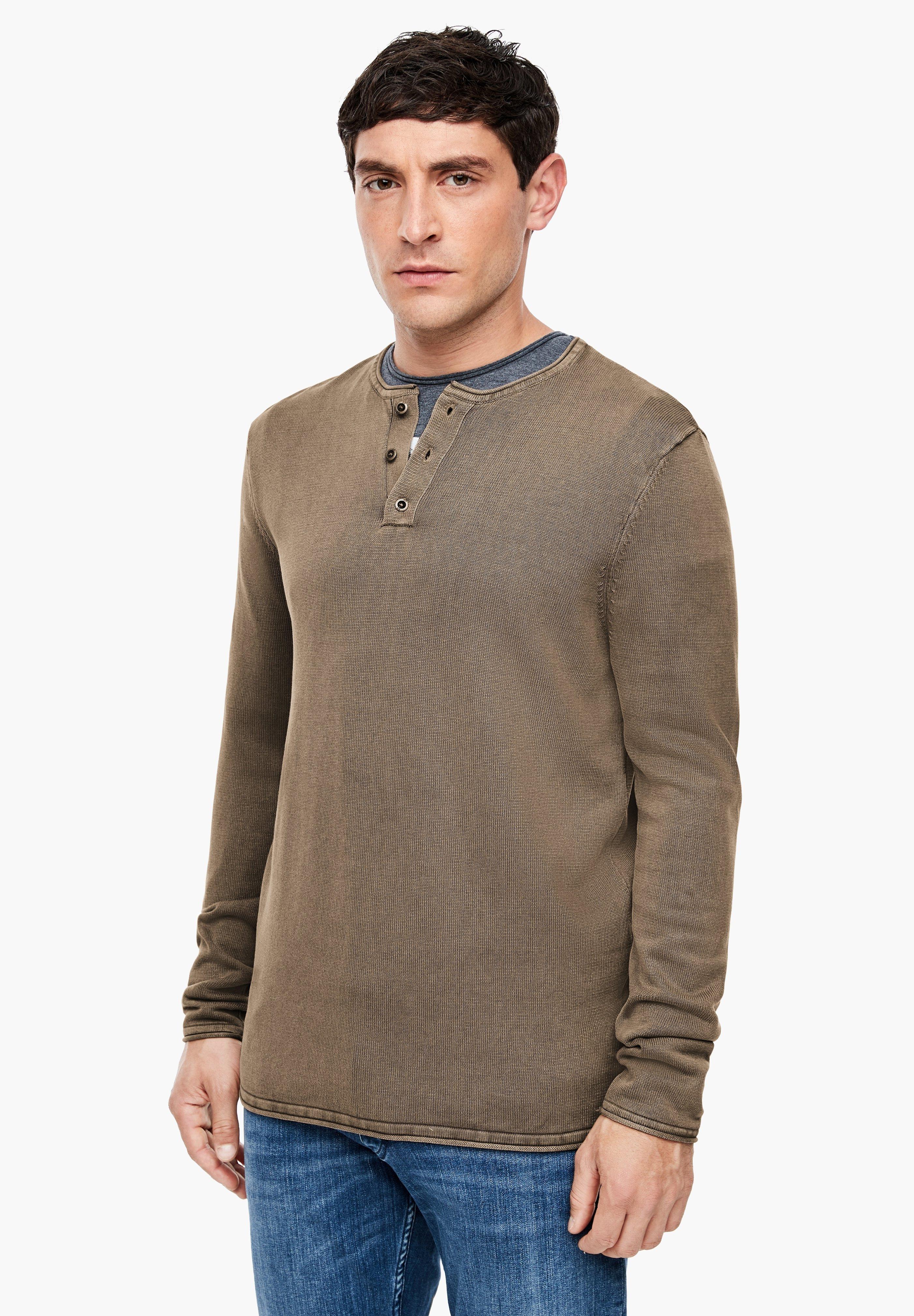 Homme MIT GARMENT DYE-EFFEKT - Pullover