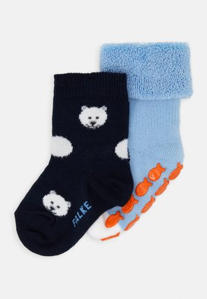 PENGUIN POLAR BEAR 2 PACK - Socks - steelblue/marine
