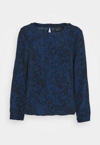 GAP Petite - WOVEN PINTUCK TEE - Blouse - blue - 4