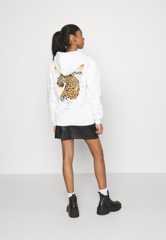 ELECTRIQUE D'AMOUR HOODIE  - Sweater - white