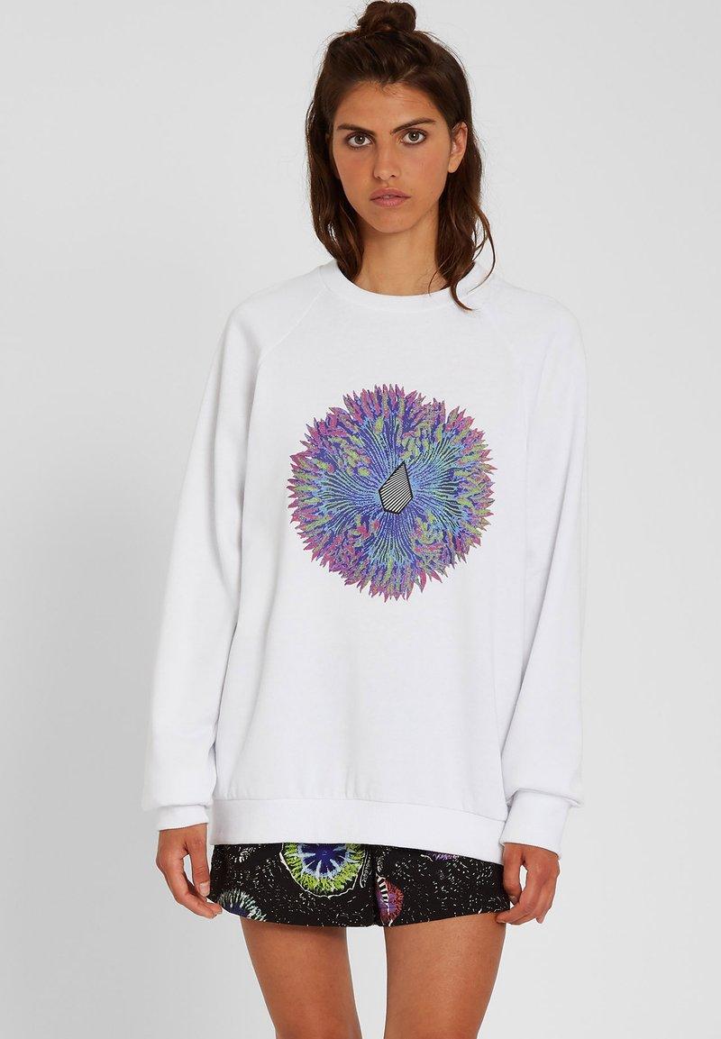 Volcom - CORAL MORPH CREW - Sweatshirt - white