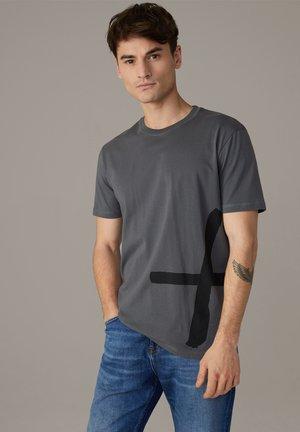 PARKER - Print T-shirt - dunkelgrau