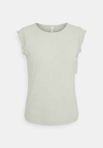 ONLNICE FRILL - T-shirts - desert sage