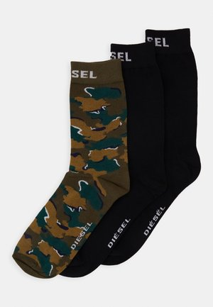 SKM-RAY 3 PACK - Socks - black/green
