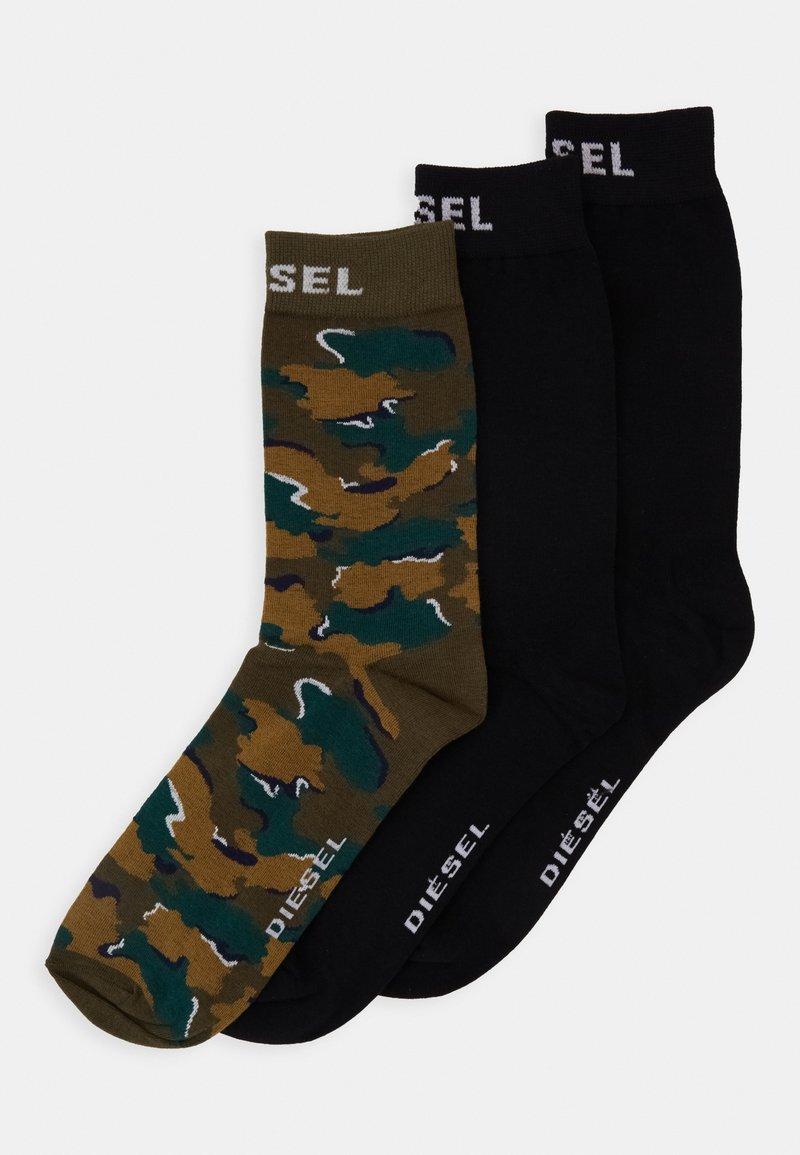 Diesel - SKM-RAY 3 PACK - Socks - black/green