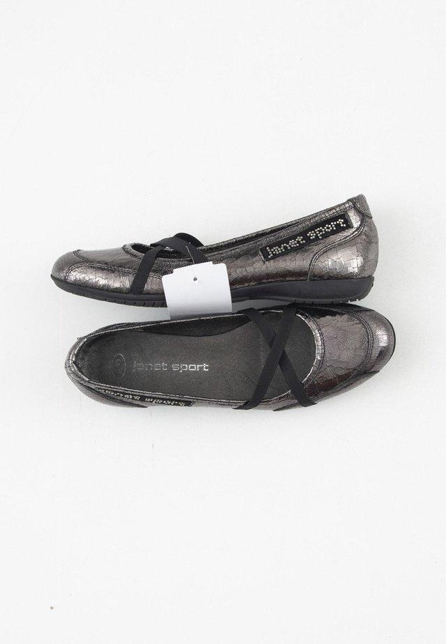 Ballerina's met enkelbandjes - grey
