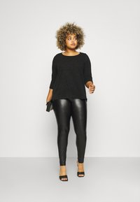 ONLY Carmakoma - CARHANNA - Leggings - Trousers - black - 1