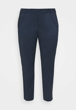 VMVICTORIA ANTIFIT ANKLE PANTS - Trousers - navy blazer