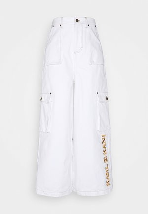 RETRO BAGGY PANTS - Tygbyxor - white