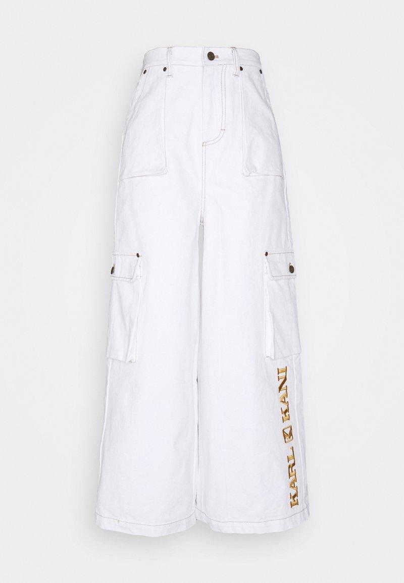 Karl Kani - RETRO BAGGY PANTS - Trousers - white
