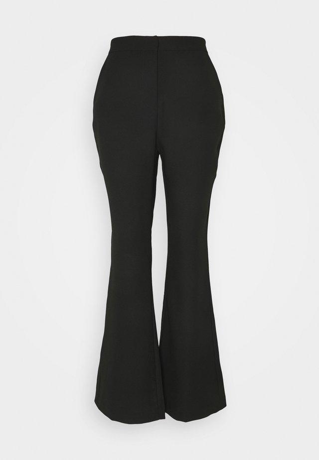 SHAPED SUIT PANTS - Pantalones - black