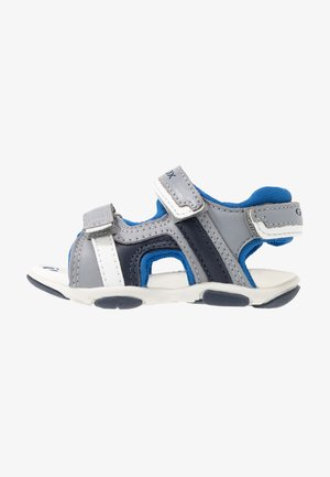 AGASIM BOY - Walking sandals - grey/royal