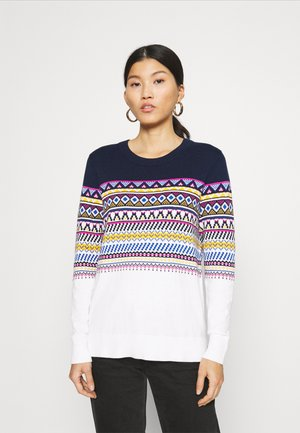 FALL FAIRISLE CREW - Jumper - navy uniform