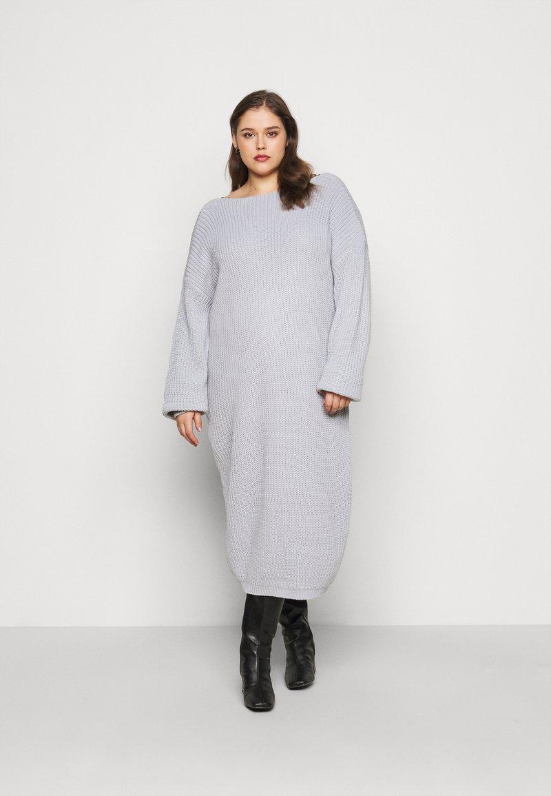 Glamorous Curve - LACE TRIM JUMPER DRESS - Jumper dress - light grey