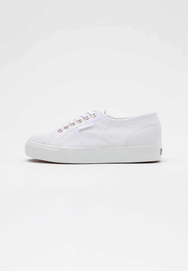 BIGEYELETS - Sneakers basse - white/rose gold
