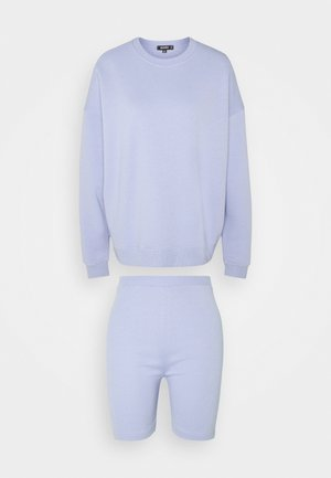 BASIC OVERSIZED AND CYCLING SHORT SET - Sweatshirt - lilac