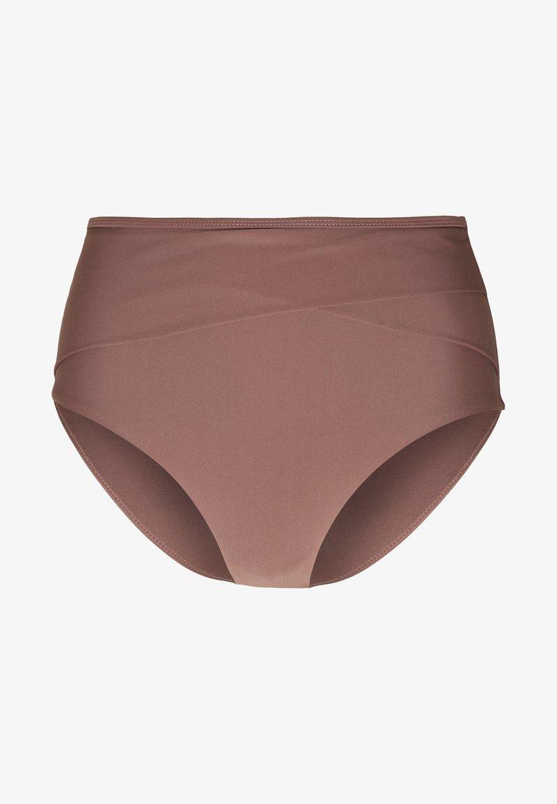 NA-KD - HIGHWAIST SLIM PANTY - Bikinibroekje - rose/taupe