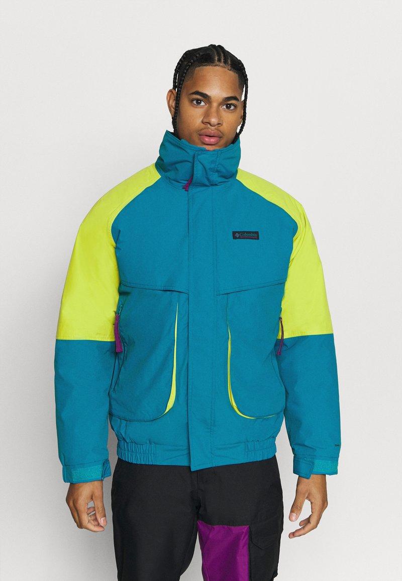 Columbia - POWDER KEGINTERCHANGE - Kurtka narciarska - fjord blue/bright chartreuse