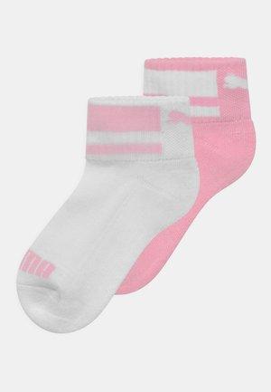 CLYDE JUNIOR QUARTER 4 PACK UNISEX - Socks - pink/white