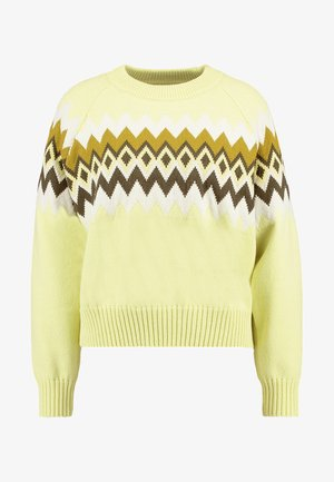 VIREN CREW NECK - Sweter - yellow pear