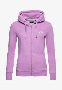 Superdry - ORANGE LABEL - Zip-up sweatshirt - lavender marl - 2