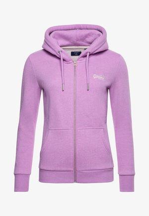 Zip-up hoodie - lavender marl