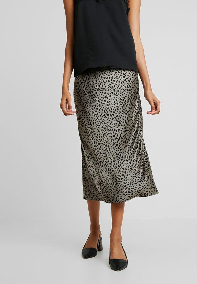 CELIE SKIRT - Pouzdrová sukně - kalamata