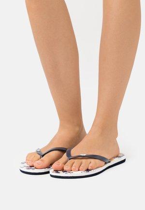 TO THE SEA DITSY - Sandály s odděleným palcem - navy/white