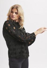 Karen by Simonsen - ELINA - Button-down blouse - meteorite - 2