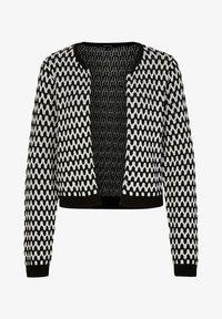 comma - MIT STRUKTURMUSTER - Cardigan - black graphic minimal - 5