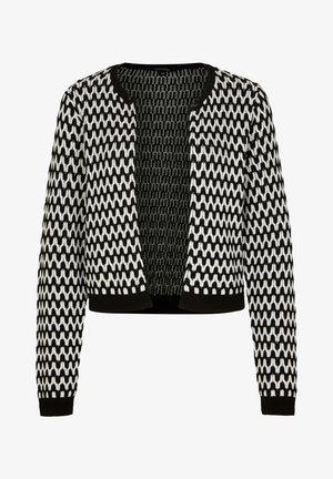 MIT STRUKTURMUSTER - Cardigan - black graphic minimal