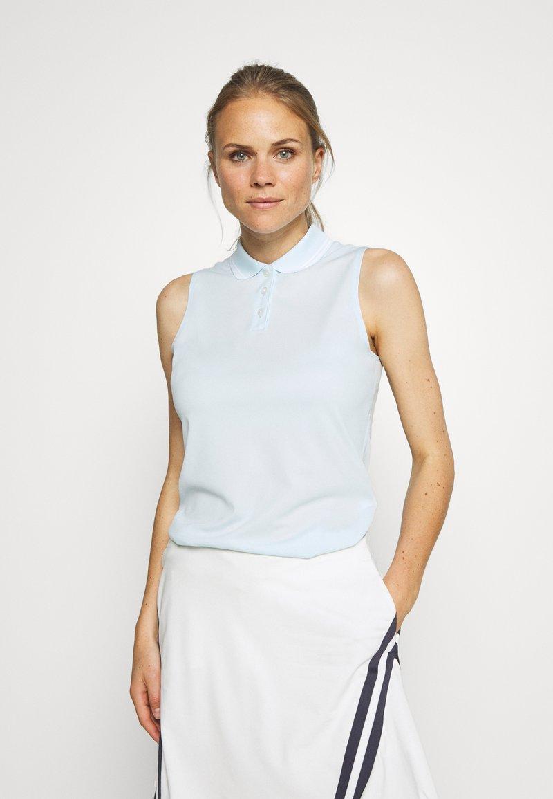 Nike Golf - DRY VICTORY - Funkční triko - topaz mist/white