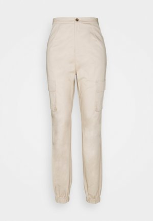 POCKET DETAIL TROUSERS - Pantaloni cargo - cream