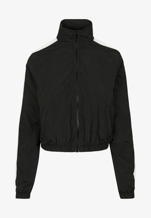 CRINKLE  - Training jacket - black/white