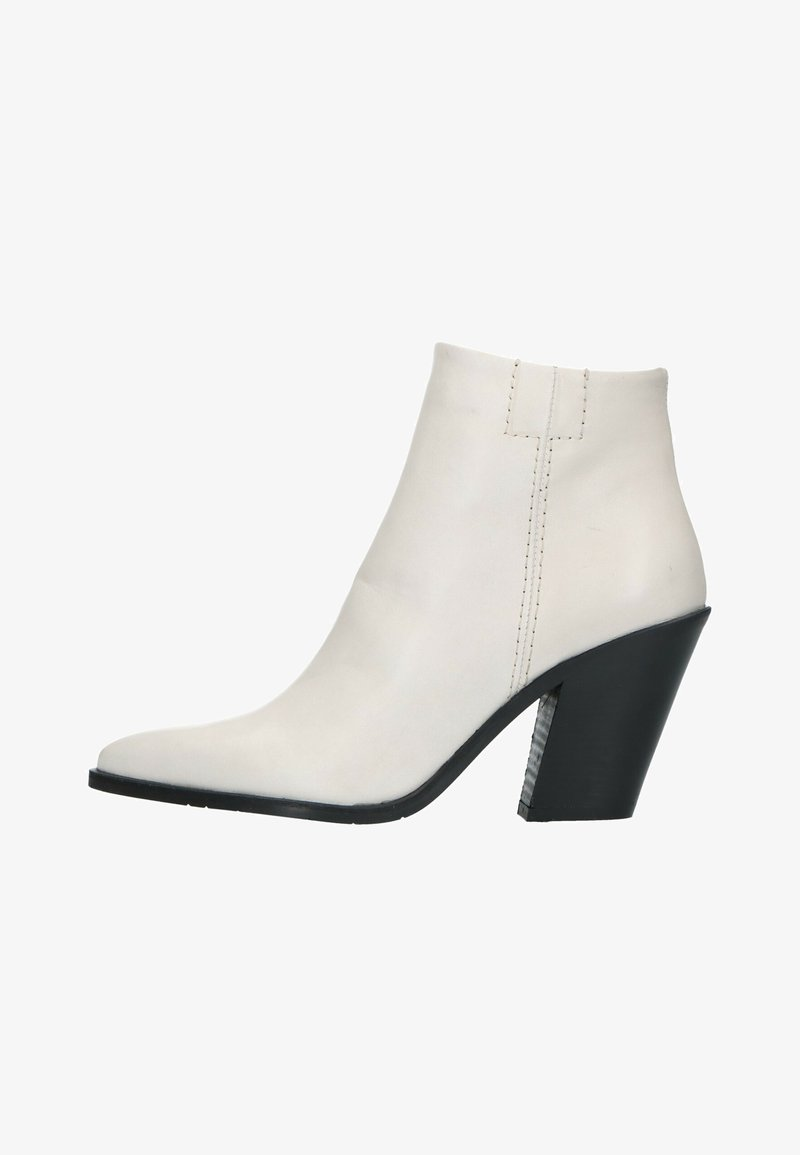 Manfield - Cowboy/biker ankle boot - offwhite