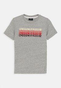 Scotch & Soda - LOGO - Print T-shirt - grey melange - 0