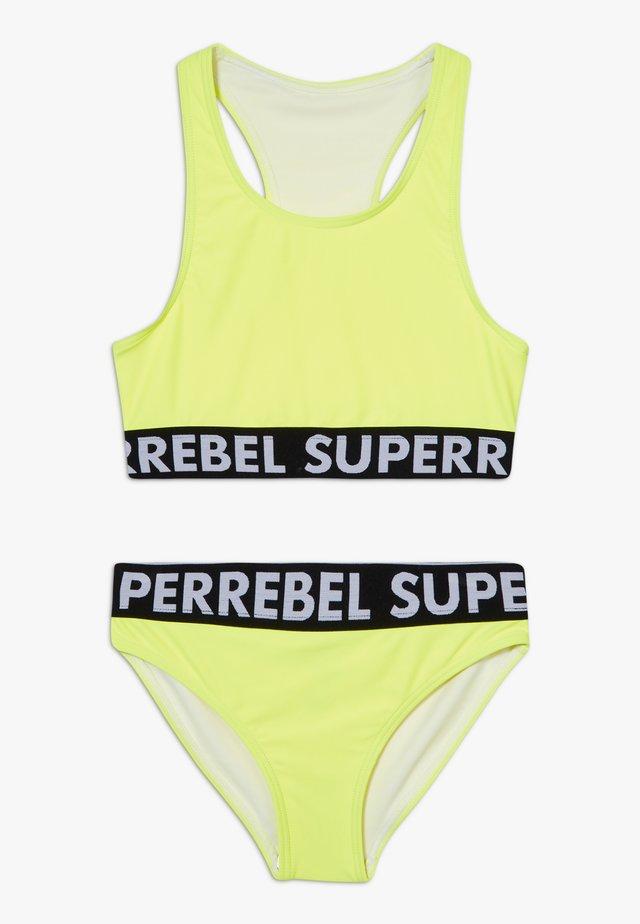 GIRLS SET - Bikinit - neon yellow