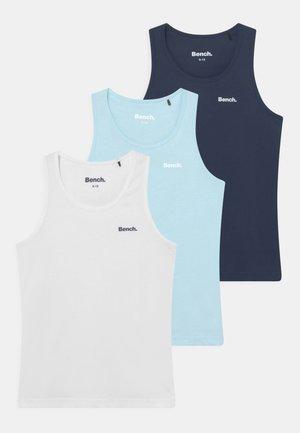 BURLEIGH 3 PACK - Undershirt - white/navy/sky