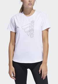 adidas Performance - BADGE OF SPORT T-SHIRT - Print T-shirt - white - 4