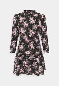 Dorothy Perkins Petite - MINI TIERRED HIGH NECK DRESS - Day dress - pink - 4