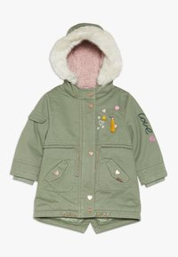 mothercare - BABY PADDED WITH TRIMS - Winter coat - khaki - 0