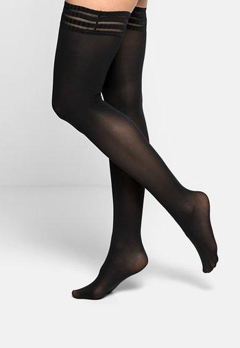 PURE MATT 50 DENIER STAY UPS HALB-BLICKDICHT MATT - Over-the-knee socks - black