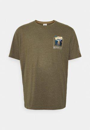 HARPER TEE  - T-shirt con stampa - dark olive melange