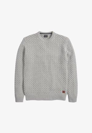 TEXTURED - Strickpullover - grey